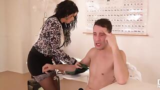 Tanned brunette, Veronica Avluv and her doctor are pounding like crazy