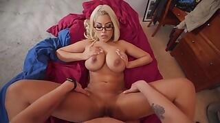 busty step-mom teaches stepson how to penetrate
