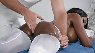 not a regular rubdown session for Diamond Jackson